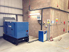 Image of a generator electrical installation for emergency services / RNLI by Enhanced Power Services Ltd